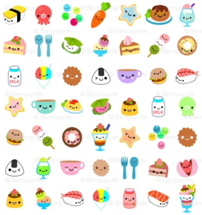 Cute Cartoon Food Drawings