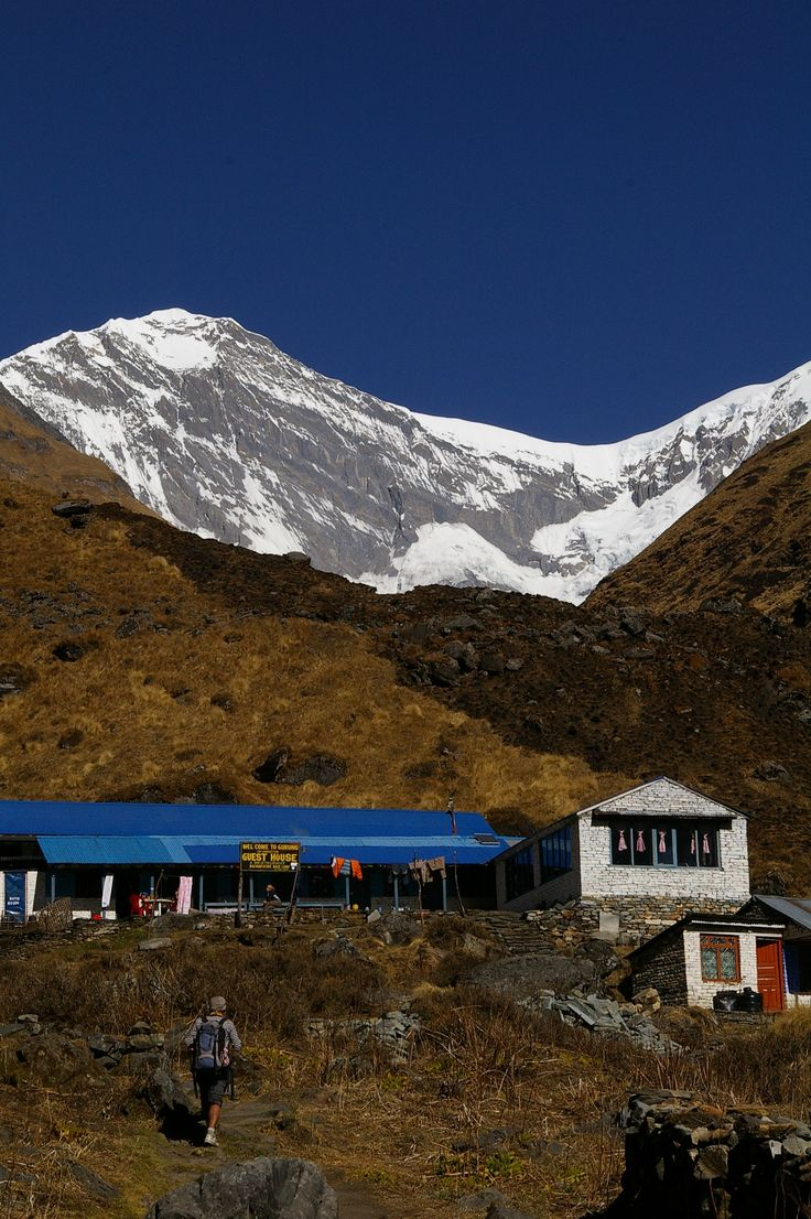 Base Camp of Machapucchare, the 'fish tail' mountain.   #nepal #himalayas #hikingnepal