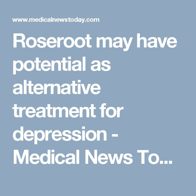 Roseroot may have potential as alternative treatment for depression - Medical News Today