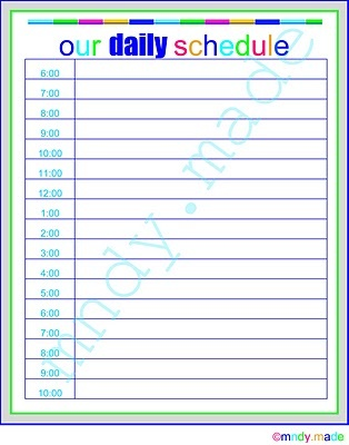 82 best Family Schedules images on Pinterest Filing cabinets - daily task calendar template