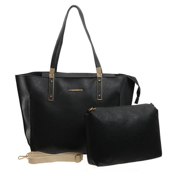 Black - Rivets Metal Detail Women Handbag Parent Subsidiary Bag £19.99