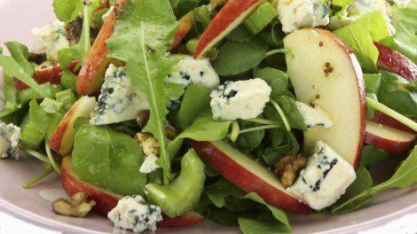 Salade aux pommes et aux noix sur Orange Tendances