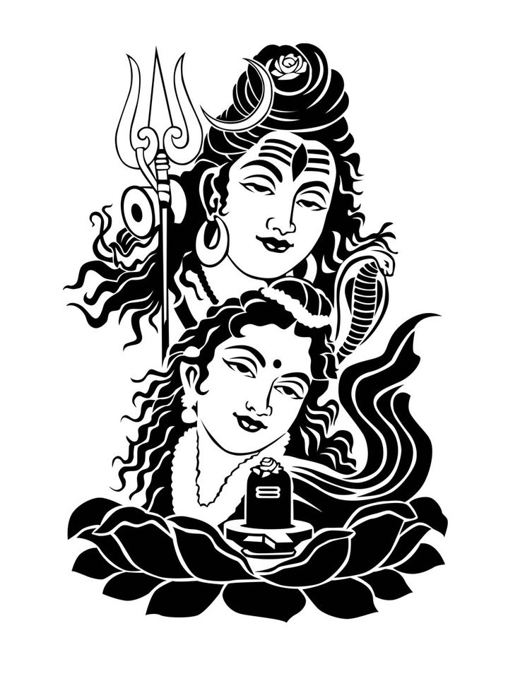 sketches of shiv parvati - Google Search