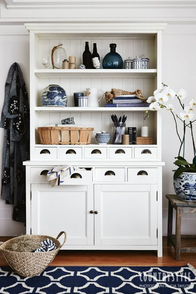 Country Style Magazine. Tired of hiding your beautiful things in cupboards? Here are some beautiful ways to put them on display. Photography Alicia Taylor, styling Tessa Kavanagh. ‪#‎countrystylemag‬ #storage #storageidea