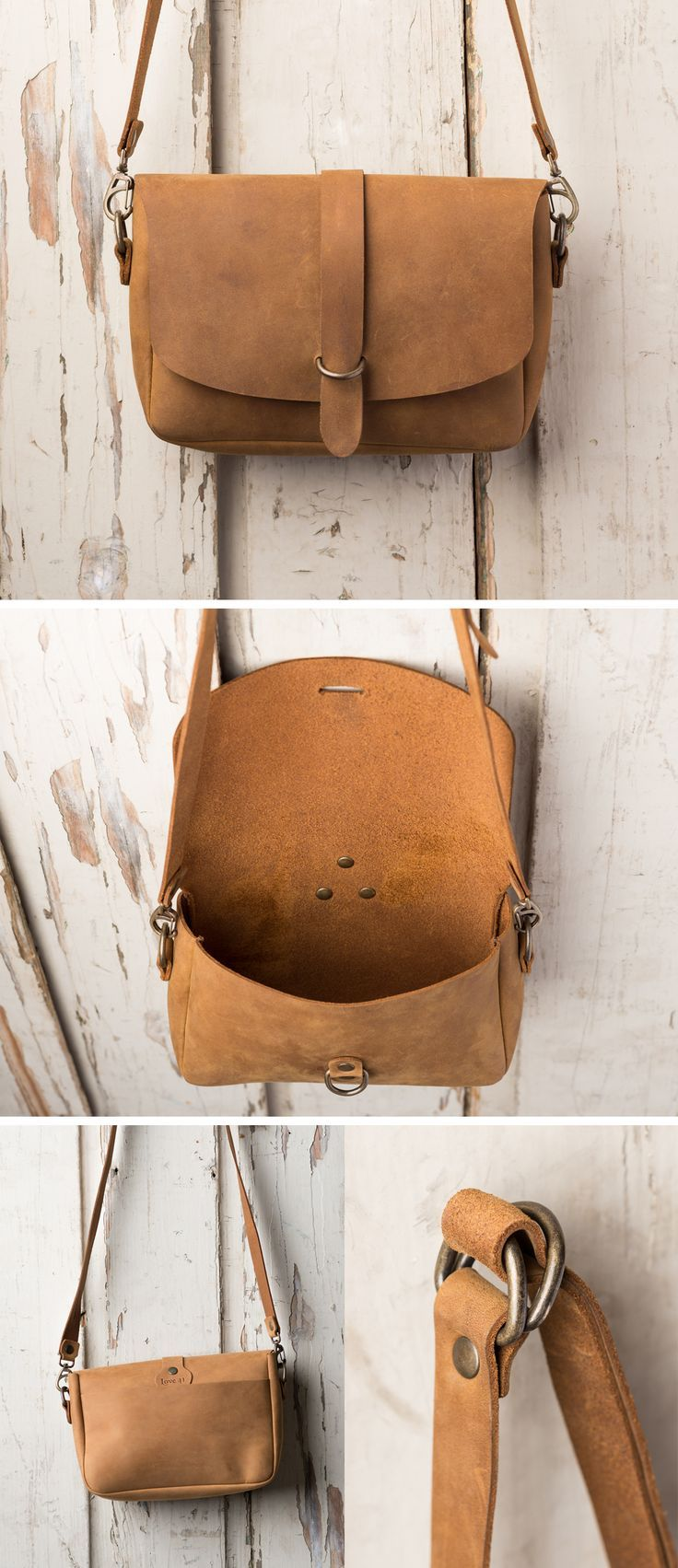 The Love 41 Crossbody Koroha in Tobacco | Full Grain Leather | 41 Year Warranty |  $86.00
