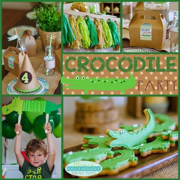 Crocodile Party: Tick Tock it's a party fit for a Croc! | Mimi's Dollhouse