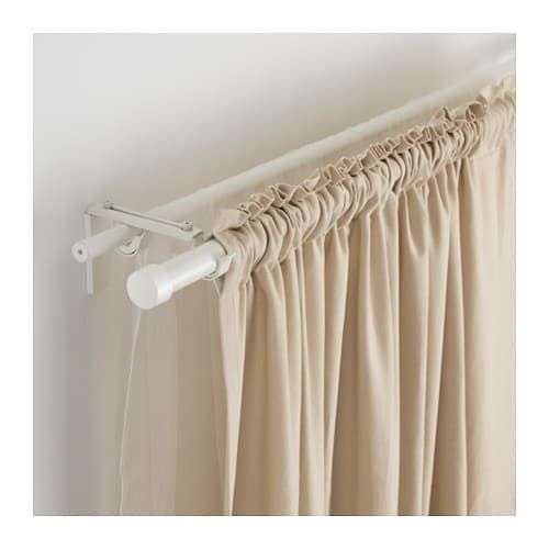 Racka Hugad Double Curtain Rod Combination White Double Rod