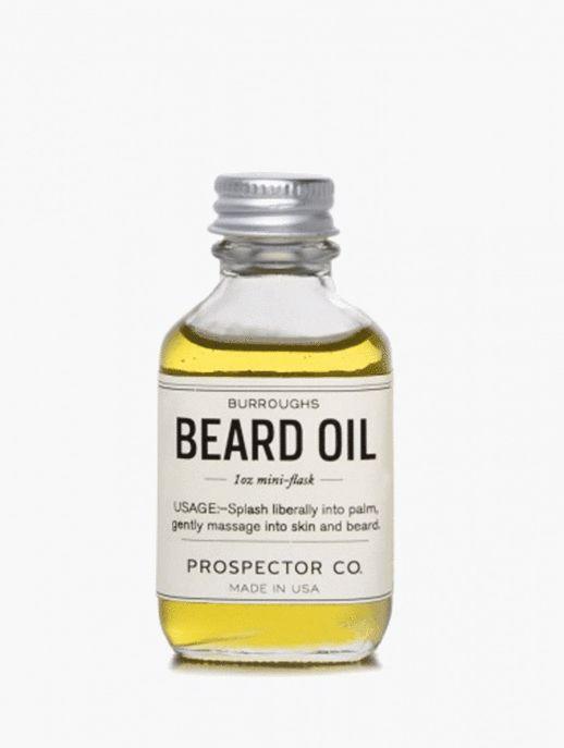 Un flacon d'huile à barbe