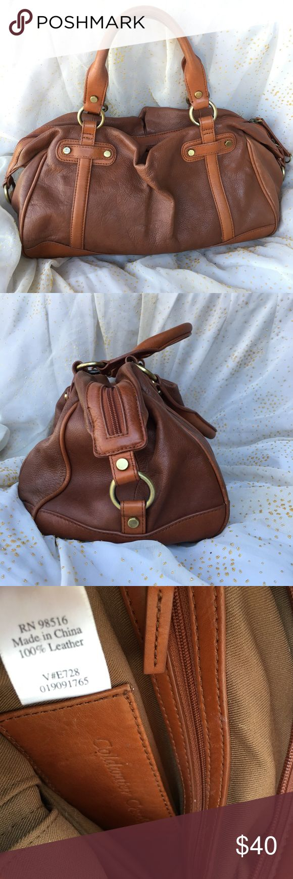 ColdWater Creek All Leather Tote ColdWater Creek All Leather Tote Excellent Condition Fully leather trimmed Great wardrobe staple item. Dimensions 14x8hx7w Coldwater Creek Bags Totes