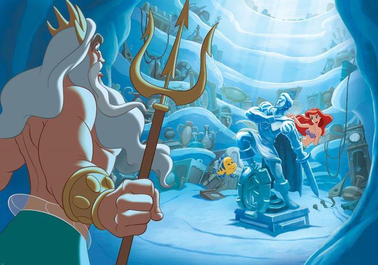 fototapet Mica Sirena - regele Triton