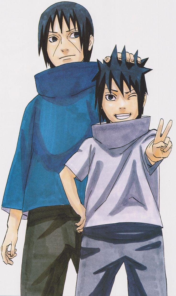 Sasuke and Itachi Uchiha ~ Naruto // Art by Masashi Kishimoto :')