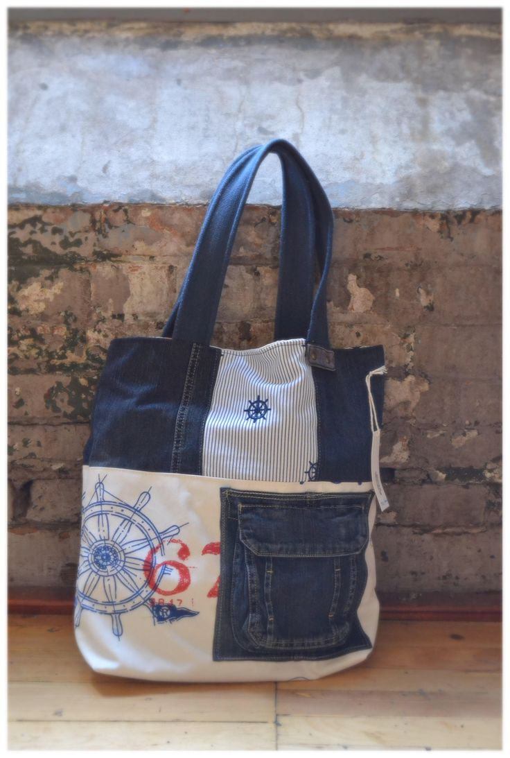 A personal favorite from my Etsy shop https://www.etsy.com/listing/544660465/maritime-theme-market-tote