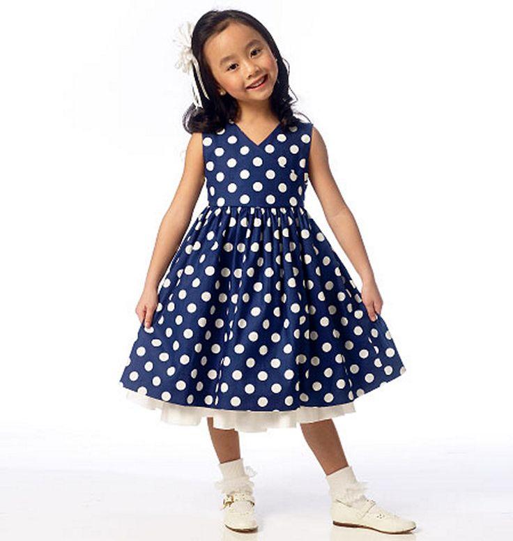 Butterick 6046 Children's/Girls' Shrug and Dress