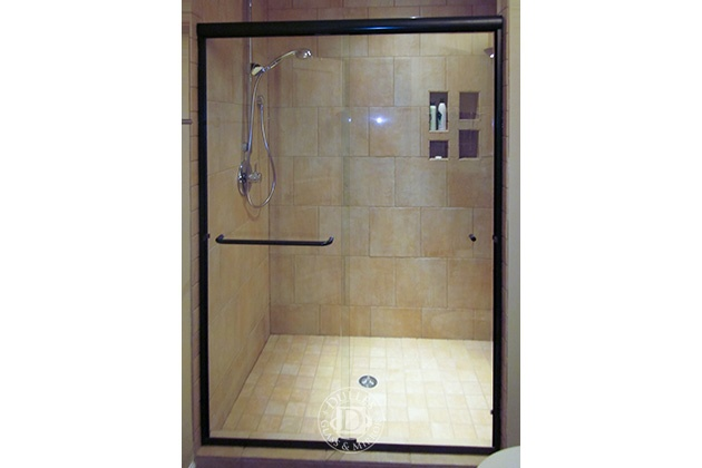 This Glass Shower Door Has Towel Bar Semi Frameless