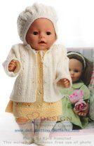 Strikkeoppskrifter dukkeklær | dukkeklær strikk | strikkeoppskrifter baby born