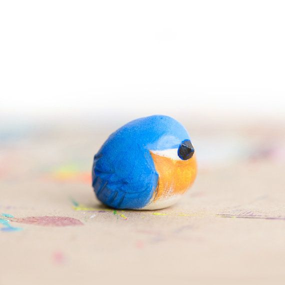 Le Bluebird Fat-Fat Totem Made to Order by leanimale on Etsy