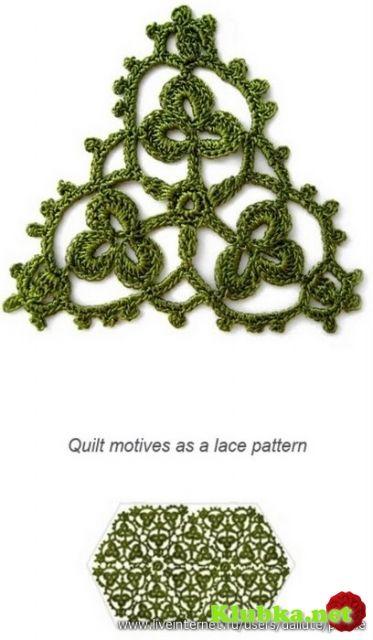 Crochet Motifs  shamrock