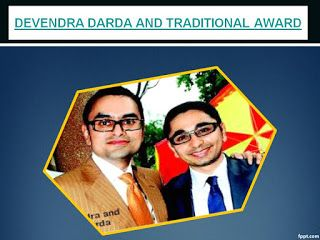 Devendra Darda Latest Updates : DEVENDRA DARDA AND TRADITIONAL AWARD