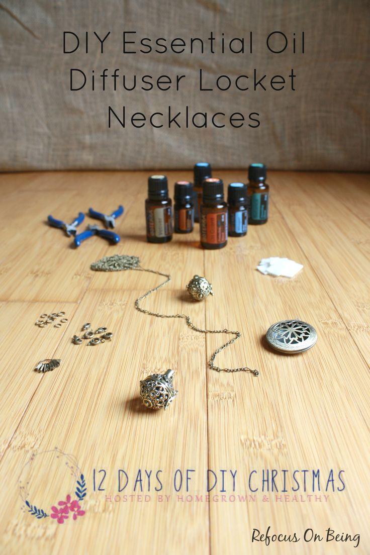DIY Essential Oil Diffuser Locket Necklaces