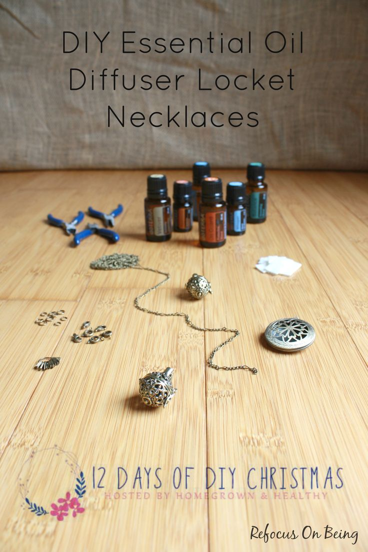 Are you ready for a Christmas DIY Series? My Essential Oil Diffuser Locket Necklaces are part of the 12 Days of DIY Christmas series being hosted by Homegrown & Healthy. Check it out, there are tons of amazing DIY gift ideas listed! #12daysofdiy #Christmas #essentialoils