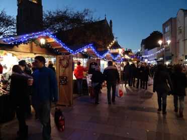 This is a picture of Cardiff Christmas Market