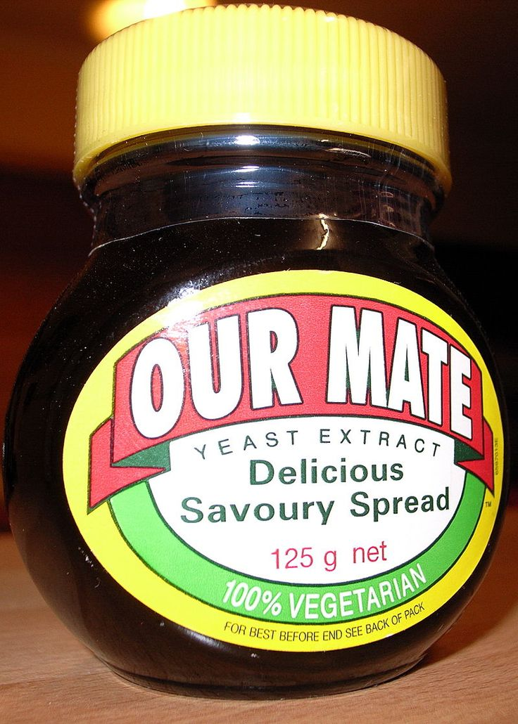 Our Mate jar of UK Made Marmite Spread branded for sale in Australia - Marmite - Wikipedia, the free encyclopedia