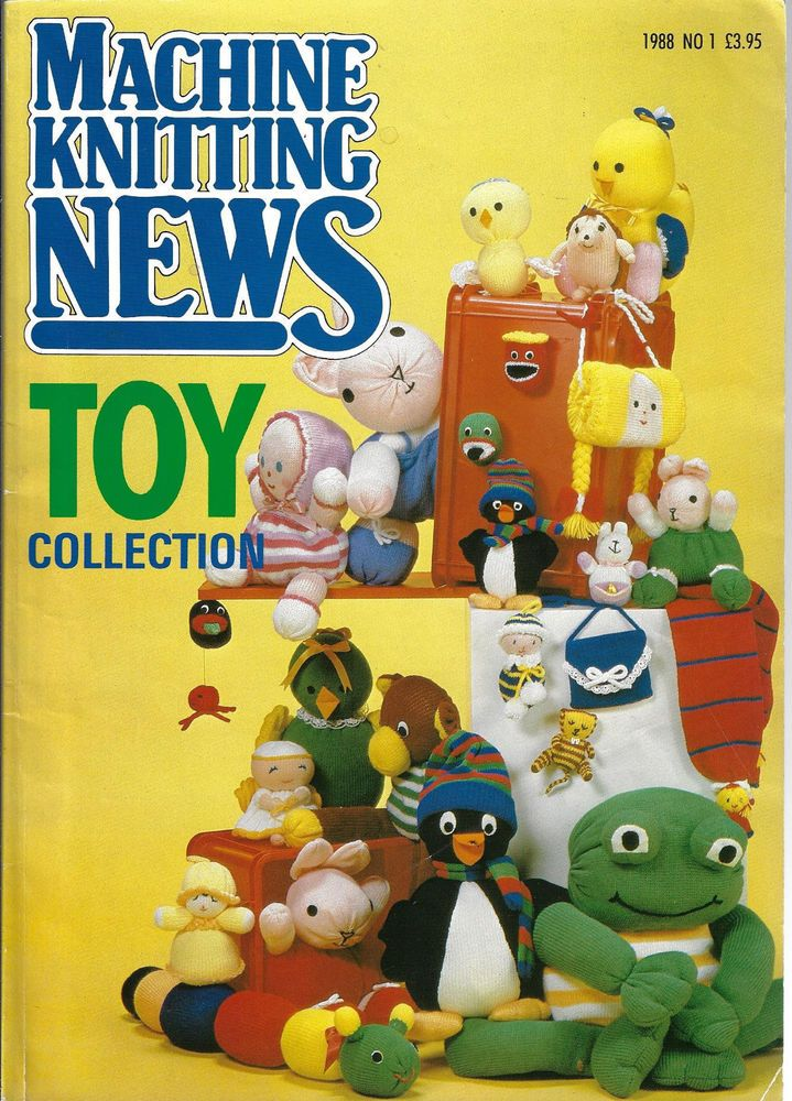 Machine Knitting News Special TOY COLLECTION 1988 # 1 - 46 doll animal patterns