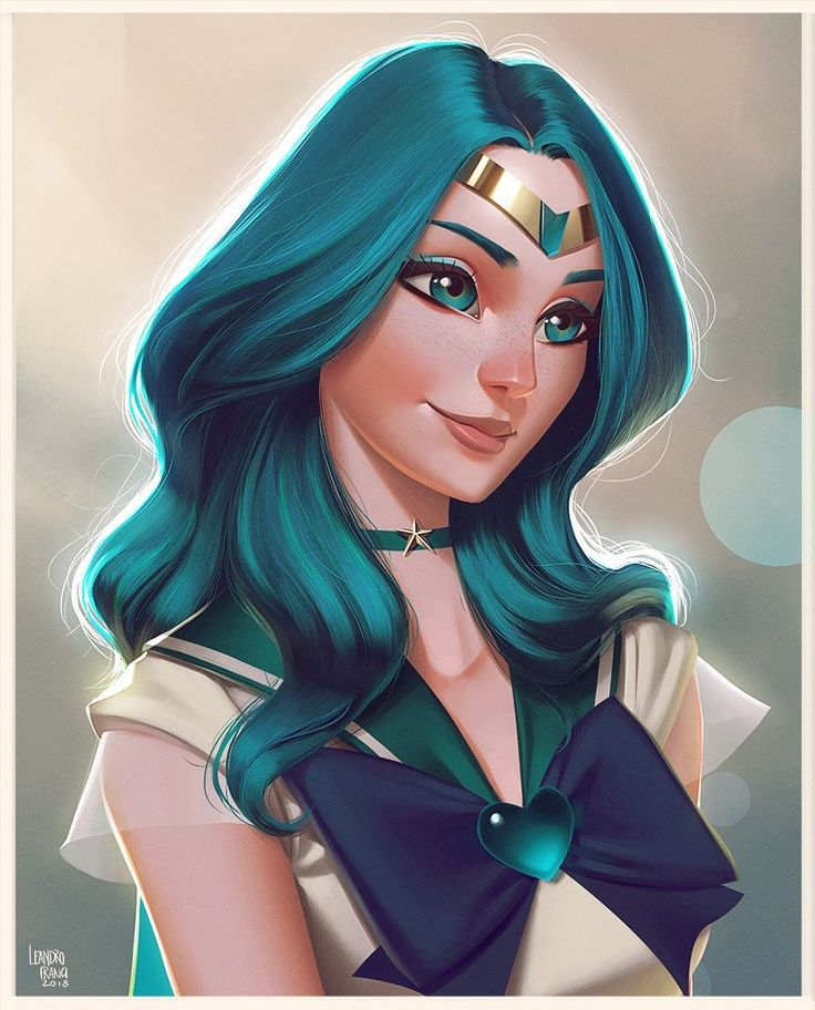 """5,836 curtidas, 146 comentários - Leandro Franci (@leandrofranci) no Instagram: """"And here's Sailor Neptune. Almost finishing this series, thank god! #sailormoon #sailorscout…"""""""