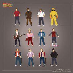 costumes Marty Mcfly retour vers le futur