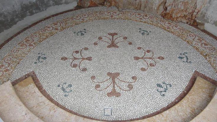 Villa Castle Roc mosaico di ciottoli in stile cinquecentesco  Villefranche Costa Azzurra Francia
