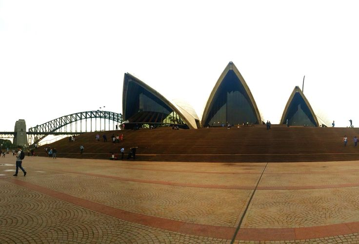 Sydney Opera house and Bridge from SOH stairs
