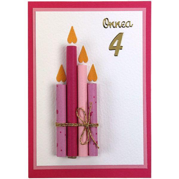 Kolmiulotteiset kynttilät on valmistettu rullaamalla ja liimaamalla paperia esim.mehupillin päälle. Tarvikkeet ja ideat Sinellistä!