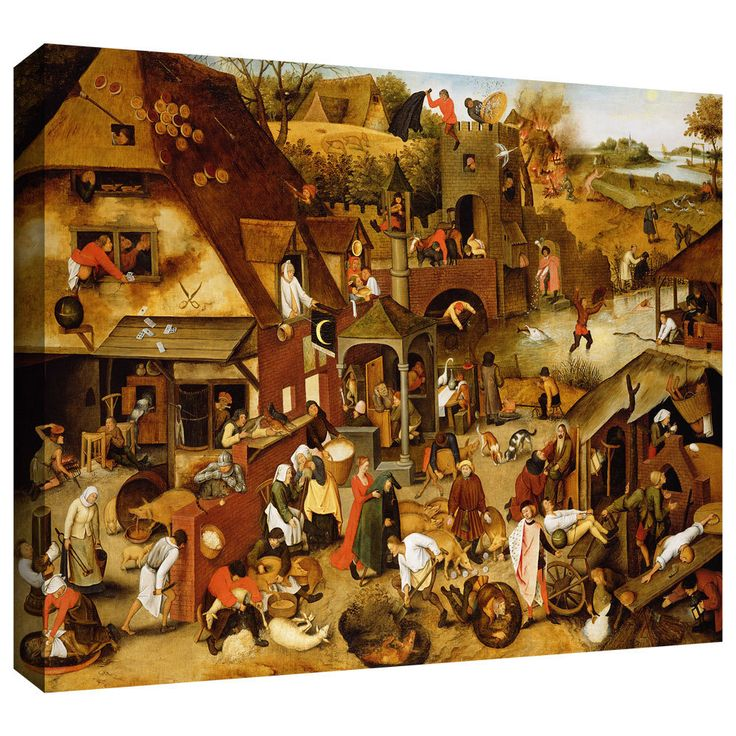 ArtWall Pieter Bruegel 'The Flemish Proverbs' Gallery-Wrapped