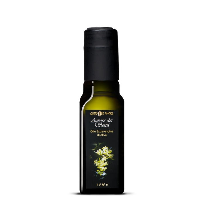 """$4.20 - EVOO """"Amore dei Sensi"""" - Extra virgin olive oil 100% #italian - 0,10L. A high quality extra virgin olive oil. The flavor reflects soils and climate of Loreto Aprutino a small town in #Abruzzo with an ancient culture in olive oil production. The perfect processing method provide a #gourmet extra virgin olive oil. The oil smells just like freshly pressed olives. The #taste is mild, slightly bitter and spicy. Great for meats, fish, cheeses and salads - olio extra vergine di oliva…"""