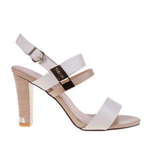 Sandale office Prezza - sandale in nuante, sandale cu toc nude, sandale cu toc alb