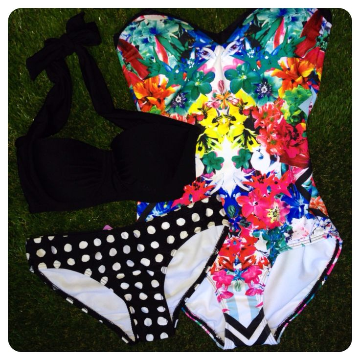 Celebrate 30 Days of Triple Treats inspired by beautiful customers! Enter code word TRIPLE at point of purchase for 30% OFF 3 items or more + FREE SHIPPING! Featured here: Heaven Botanical Bandeau One Piece, Fashion Plains Freckles Convertible Halter Bandeau Top & Hipster Brief - $84 for all 3 items + Free Shipping! SHOP HERE: http://www.swimheaven.com.au/tropical/one-pieces/heaven-botanical-bandeau-one-piece.html