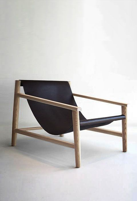 Cameron Foggo; White Ash and Leather 'Starling' Chair, c2010.