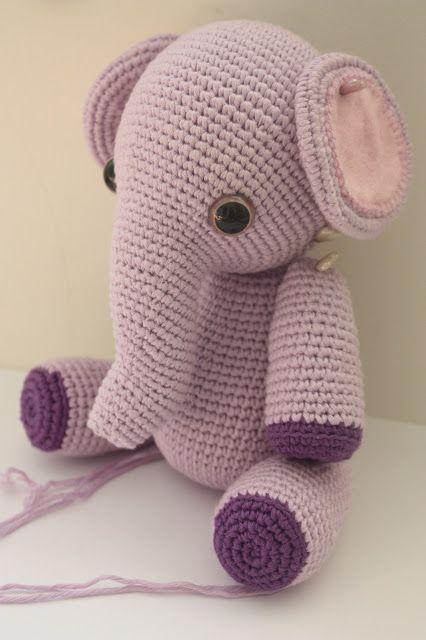 crochet animal patterns | Amigurumi creations by Laura: Amigurumi Elephant Pattern in Process
