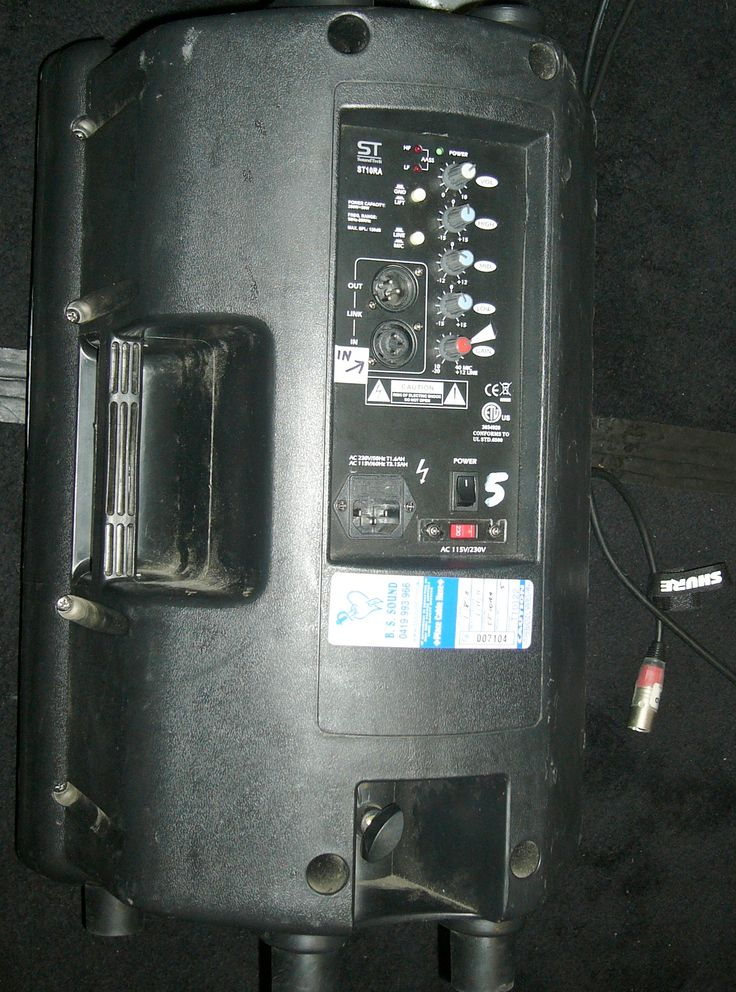 """SoundTech ST10RA active 2-way 10"""" & horn, 200 watts RMS (fold-back monitors for 8 ch PA)"""