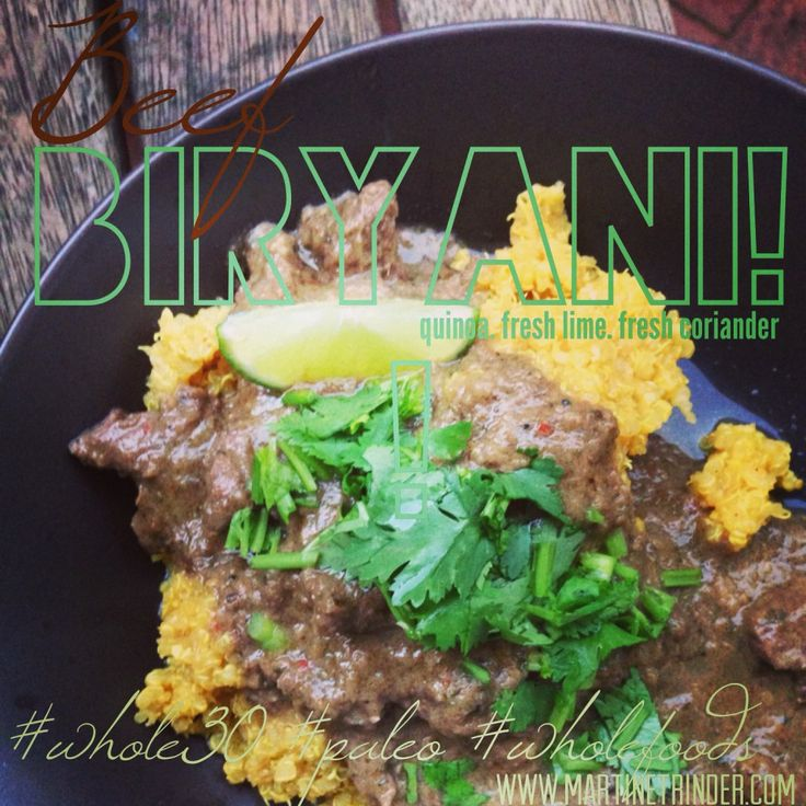 RECIPE : Beef Biryani [paleo] [Whole30] [lowcarb] [dairyfree] http://martinetrinder.com/beef-biryani/