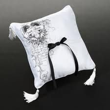 Lillian Rose True Love Collection ring pillow. Sold at Second I Do's