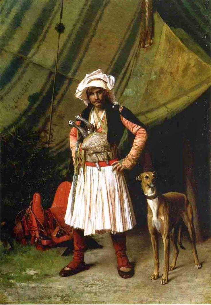 Αρματολός με το σκύλο του