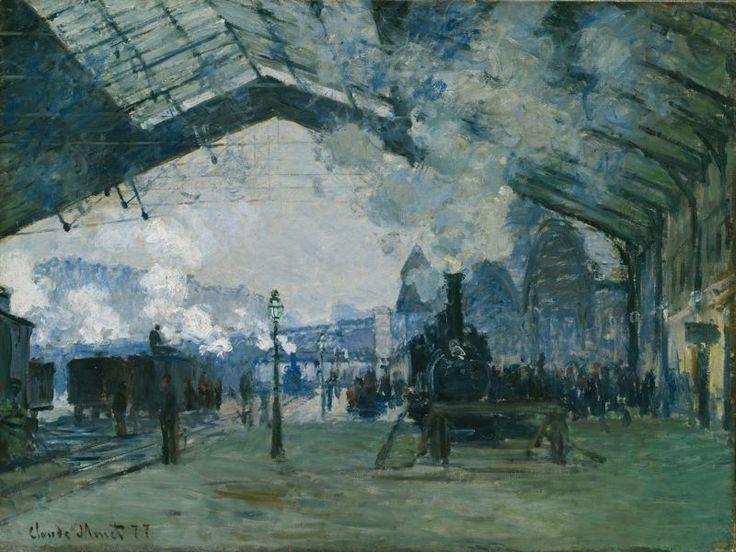 Claude Monet (1840–1926), Arrival of the Normandy Train, Gare Saint-Lazare, 1877, huile sur toile, Art Institute of Chicago, Chicago. Source: Wikipedia. Licence: Réutilisation autorisée sans but commercial.