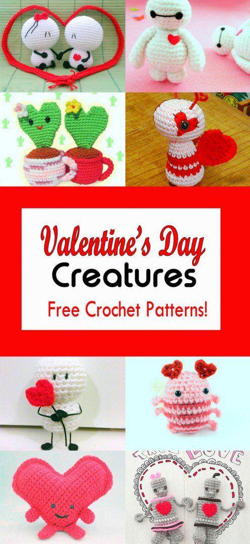 12 Valentines Day Creatures Free Crochet Patterns Crochet