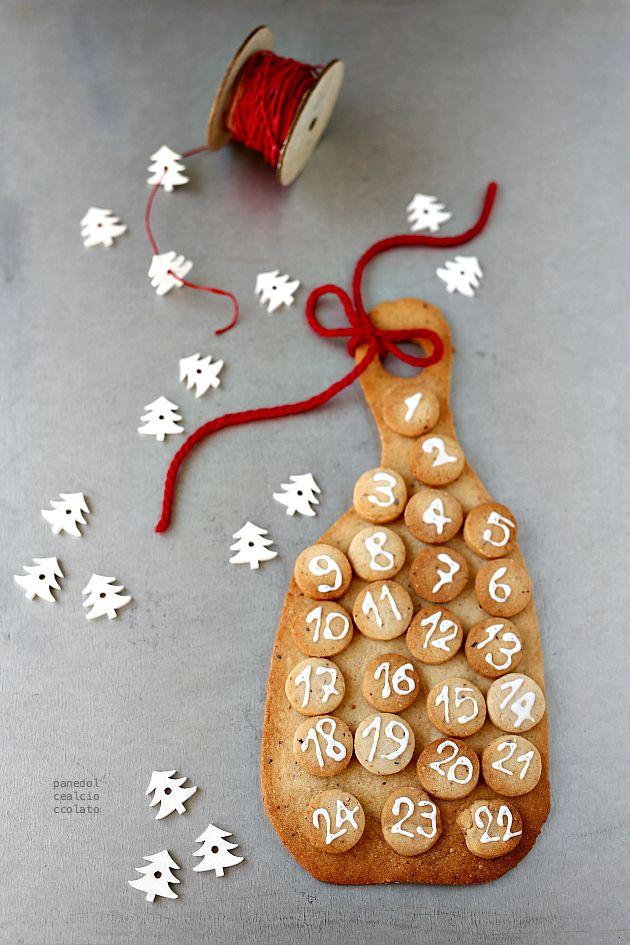 Calendario dell' avvento in Pasta Frolla ricca alle nocciole   PANEDOLCEALCIOCCOLATO