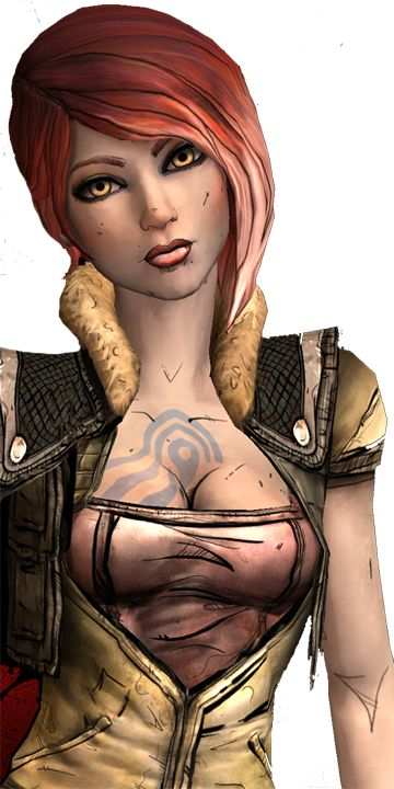 (Borderlands: Lilith) Heather, Nevaeh's tag-along from Point Lookout. Very quiet and intense but is extremely witty and sarcastic; procrastinates frequently. Uses a plasma rifle named Scarab.