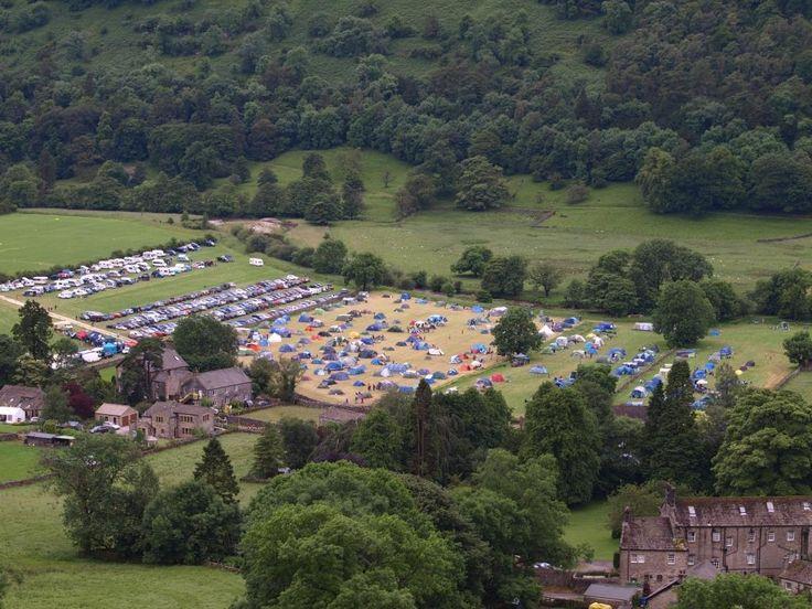 National Trust campsite at Buckden
