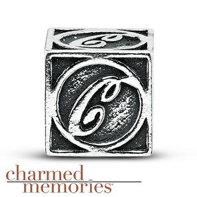 Charmed Memories Letter A Bangle Bracelet Sterling Silver AqdlG