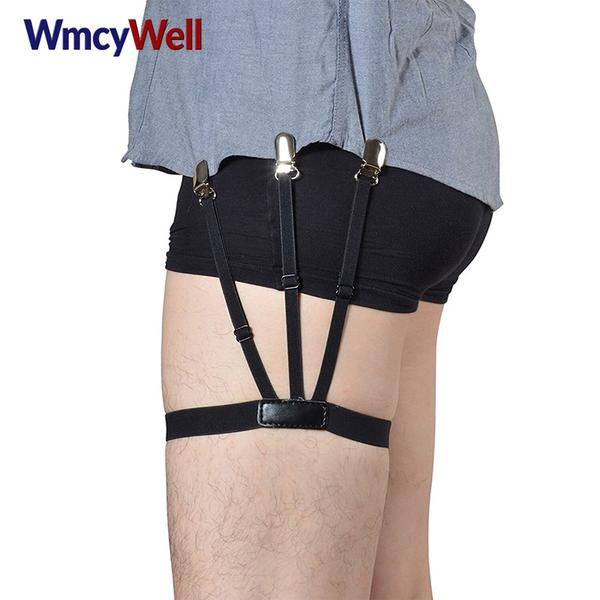 1 Pair Men/'s Hidden Shirt Stays Holders Garter Belt Suspender w//Locking Clamps