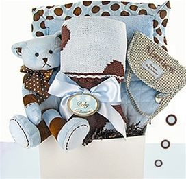 190 best gift baskets wagons images on pinterest baby gift personalized luxury baby boy gift set negle Image collections